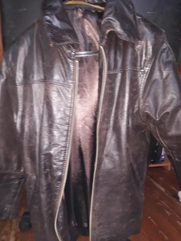 Kozni prsluk - Srbija: Kozna braon jakna sa prslukom vunenim koji se skida vel.12