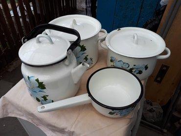 Набор эмалированной посуды советский новый в Бишкек