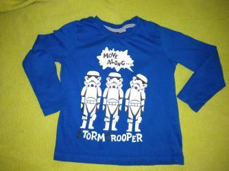 Star Wars 98/104, 3-4 god. Očuvana i kvalitetna tanja bluzica