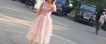 Красивое платье, длина французская, ручная работа, сшито на заказ
