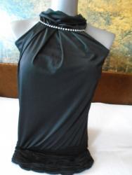 Rolka timeout - Srbija: Prelepa tegljiva (10% elastina) haljinica/tunika sa rol kragnicom i