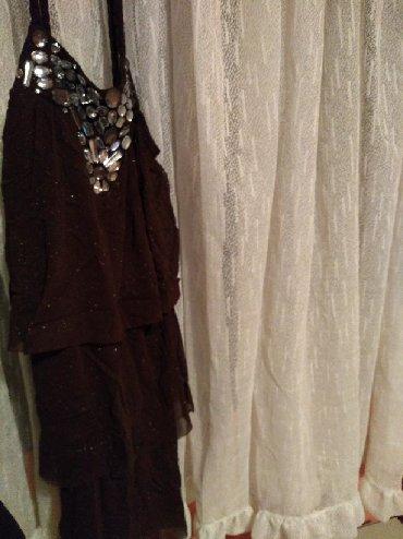 Dres velicina m - Srbija: Mnogo lepa kikiriki haljina,jednom nosena. Braon boje,razvlaci se,ne