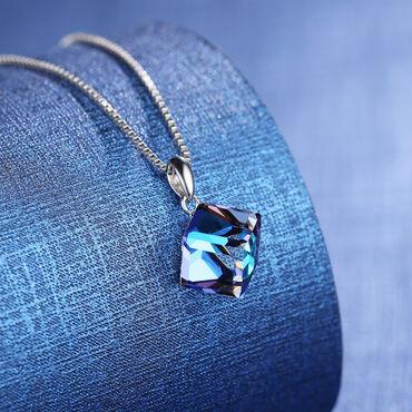 Личные вещи - Чаек: Ожерелье Аврора из австрийский кристалла любовный куб.Элегантное