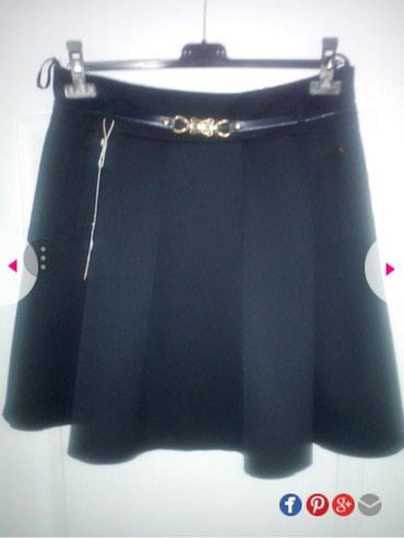 Nova suknja tamno teget,kais moze da se skine,imitacija dzepova. - Belgrade
