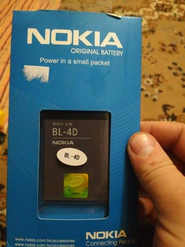 Батарейка для телефона nokia BL-4D (новая) в Бишкек