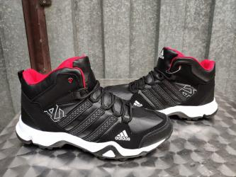 Adidas cipele - Srbija: Adidas AX Prelepe Muske Cizme-NOVO-Crno-Bele-Br. 41-46! Model je AX Po