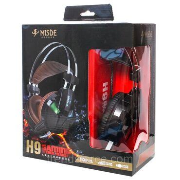 Qulaqliq Misde H9 (Gaming) Qosulmaq tipi: USB Deyisen isiq rengleri Od