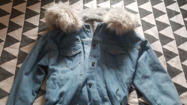 Nova teksas jakna sa krznom velicina s-m