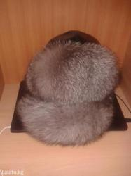 Чернобурка натуральной мех и кожа, универсальный шапка  почти новые в Бишкек