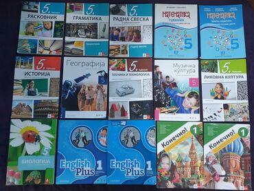 Knjige za 5 razred.  Kupljene nove, prošle godine. Koristilo samo jedn