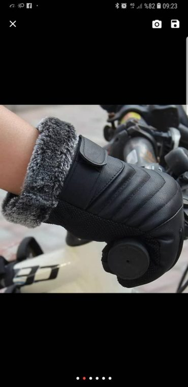 Перчатки в Кыргызстан: Перчатки чёрный теплый
