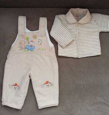 Детский демисезонный комплект. Комбинезон и курточка (с 0 месяцев и до
