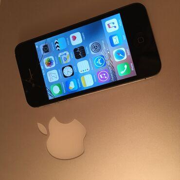 apple 4s - Azərbaycan: Apple iphone 4s 8GB, ishlenmishdir. Tek problemi ekraninda cat var