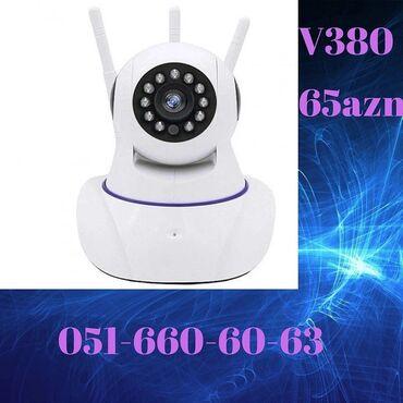 221 elan: Wifi Kamera V380  Mağazadir,çatdirilmada var ✓Herekete qarşi izleme ✓3