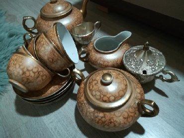 Aksesoari | Srbija: Servis za čaj Izuzetno zanimljiv . Nekorišćen . Ima 5 šoljica . Indija
