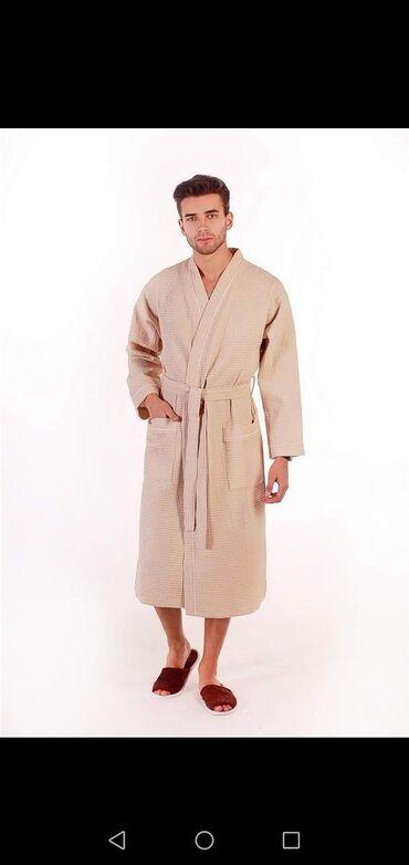 Вафельные мужские халаты. Производство Турция Качество премиум класс
