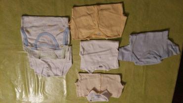 Bodici za bebe vel.74.Ukupno 7 bodija,1 na kratak rukav,3 na bratele i - Petrovac na Mlavi