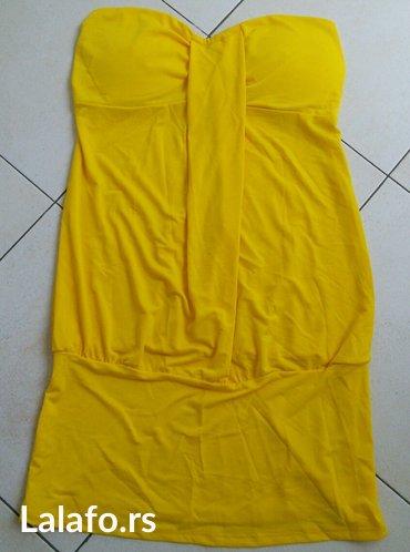Rasprodaja! Žuta tunika za plažu, potpuno nova, S veličina. Dužina - Crvenka