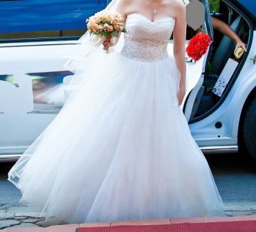 платье миди в полоску в Кыргызстан: Продаю свадебное платье, возможен прокат  Свадебное платье, свадьба