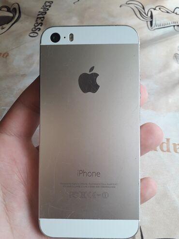 IPhone 5s | 16 GB | Sarı | İşlənmiş | Çatlar, cızıqlar, Barmaq izi