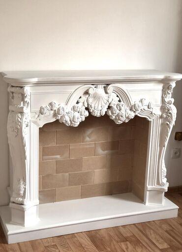 Продаю декоративный камин,выполнен на 3 д станке,Ширина 1280 мм, высот