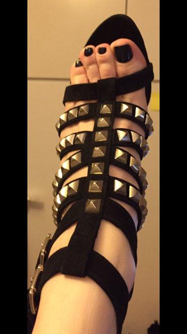 Black high heels studs sandals size 39 New ! Never worn . Bought 80£ σε Υπόλοιπο Αττικής - εικόνες 2