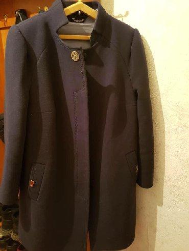 купить приус в бишкеке в Кыргызстан: Срочно!!!Драповое пальто, стойкий воротник,темно синий, 54-размер