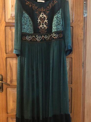 Длинное национальное платье (надевала 1 раз) размер 48 советский. Цена