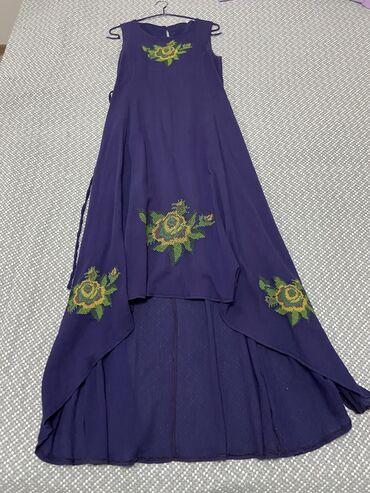 Платье на вечер, очень нарядное, ткань лён/хб, состояние отличное