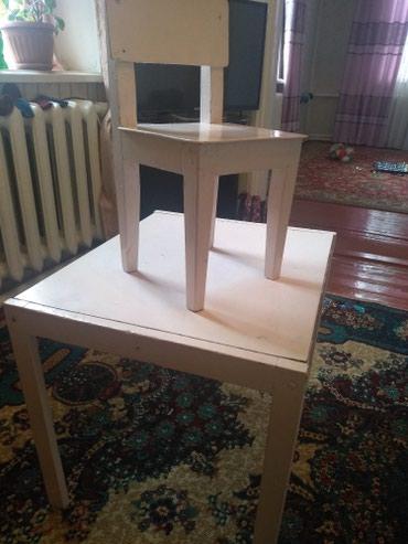 стол с двумя стульями в Кыргызстан: Дед.стол стул