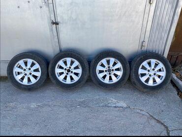 r14 диски 4 в Кыргызстан: Диски оригинал с шинами ВАЗовские R14, разболтовка 4 /100подходит на