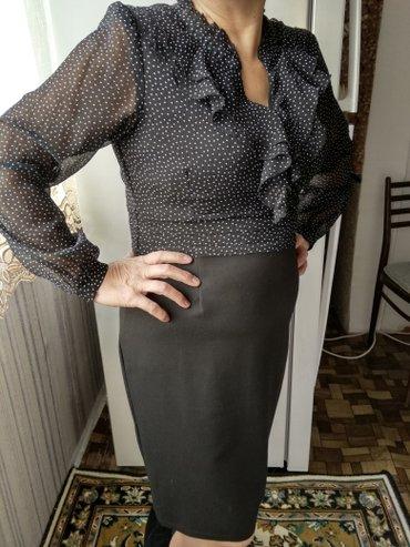 Платье в горошек, размер 46-48 в Бишкек