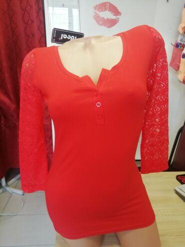 Majice Ideal, cipkani rukavi, pamuk elastin, vel. M,L XL,2XL Cena 499