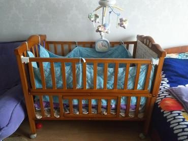 Детская кровать без матраса!!!Идет в два яруса,низ пока ребёнок