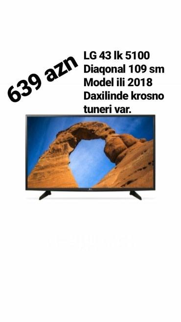 Bakı şəhərində LG 43 LK 5100 / Model ili 2018 ,Diaqonal - 109 sm. daxilinde krisno