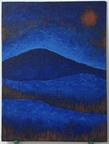 Продаю картину акрил, холст на картоне, 18х24«Лживое спокойствие»