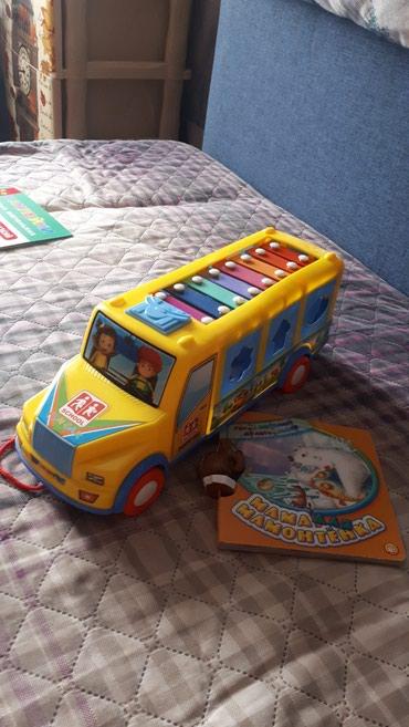 Машинка-сортер+ксилофон,в хорошем в Бишкек