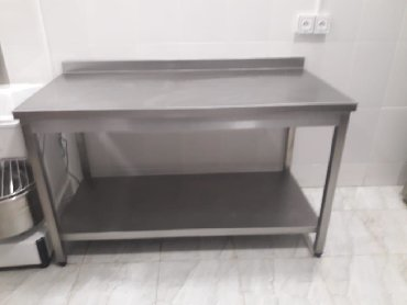 ber ber stolu - Azərbaycan: Paslanmaz stol 140 × 70 sm