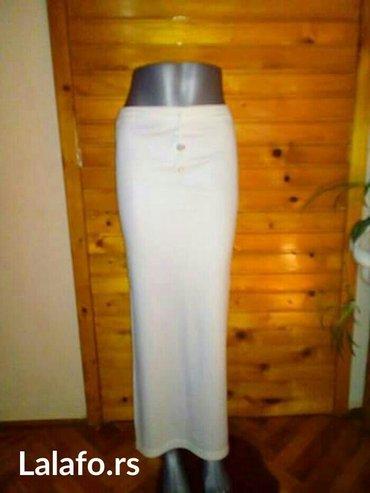 Dugacke elastične suknje s vel. Obe za 300din (boje bela i bebi ljubič - Subotica