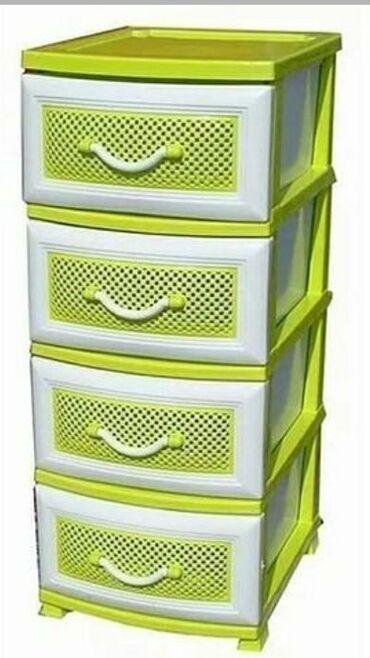 Детская мебель - Состояние: Новый - Бишкек: Пластиковые комоды по доступным ценам . 1599сом  Доставка бесплатная