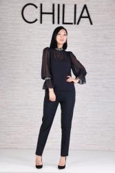 нарядные блузки в Кыргызстан: БлузаНарядная блузка Цвет чёрный и красный Шикарное качествоРазмеры 36