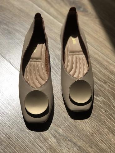 Абсолютно новые туфли - балетки !На небольшом каблуке, очень красивые