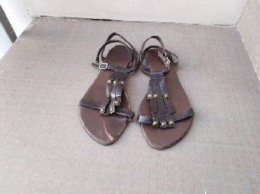 Ženske kožne sandale, broj 39, braon bojeŽenske kožne sandale, braon