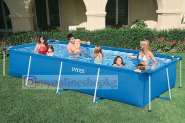 Сборный бассейн Intex легко и быстро устанавливается. Процесс сборки