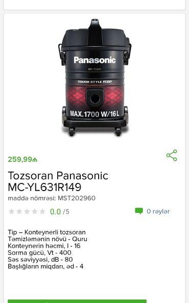 Tozsoran Panasonic Tam zəmanətlə Nəğd və 1 kartla ödəniş Evdən birbaşa