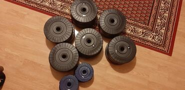 Sport i hobi - Srbija: Set tegova za vezbanje (2×2kg)+(16×5kg)