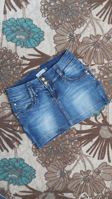 Prelepa teksas suknjica kao novaPamuk/elastinDuzina napred/pozadi