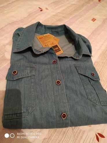 Новая женская джинсовая рубашка. Размер L