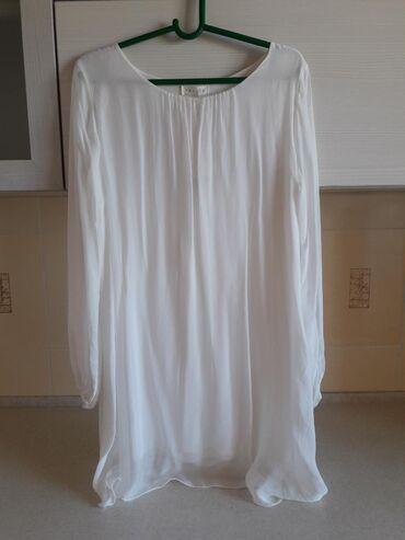46-размер в Кыргызстан: Продаю платье Италия. Размер 44-46. Шелк. Цвет белый. Абсолютно новый