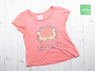 Женская футболка с принтом Garfield Длина: 48 см Пог: 41 см Рукава: 12